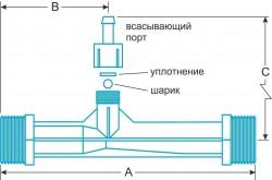 Вакуумный водоструйный эжектор Mazzei 287